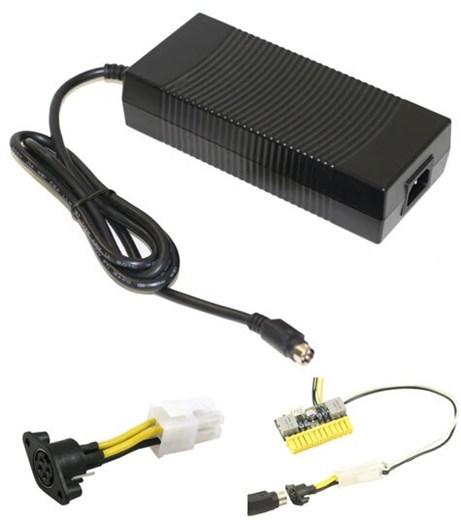 AC Netzadapter (12V, 16A, 192W) mit PicoPSU-Adapte