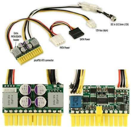picoPSU-160-XT DC/ATX(160 Watt) + 192W Netzadapter