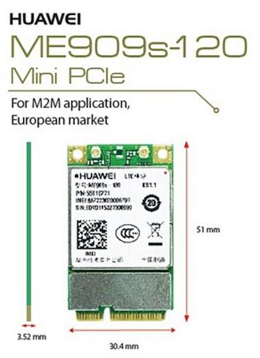 HSPA / UMTS / EDGE / LTE 4G Mini-PCIe Modem (Huawe