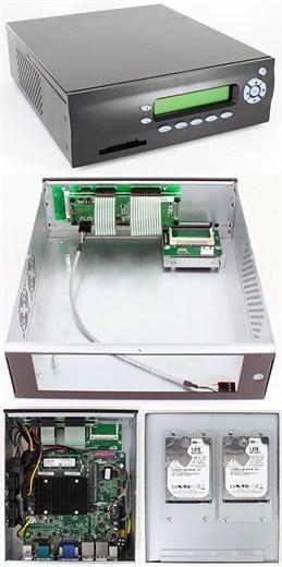 M400-LCD Mini-ITX Appliance Gehäuse (picoLCD 20x2,