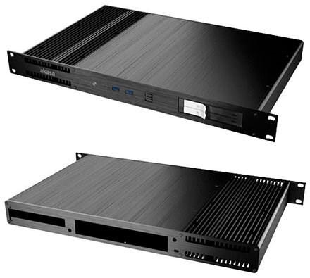 Akasa Galileo TU1 Thin-ITX 1U Rackmount Gehäuse (A