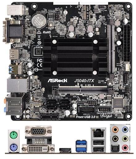 ASRock J5040-ITX (Intel Pentium Silber J5040 4x2.0