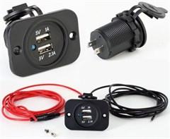 Doppel USB 5V Einbau Steckdose 12V/24V KFZ